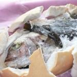 鯛の塩釜焼と徳島のすだちのセット
